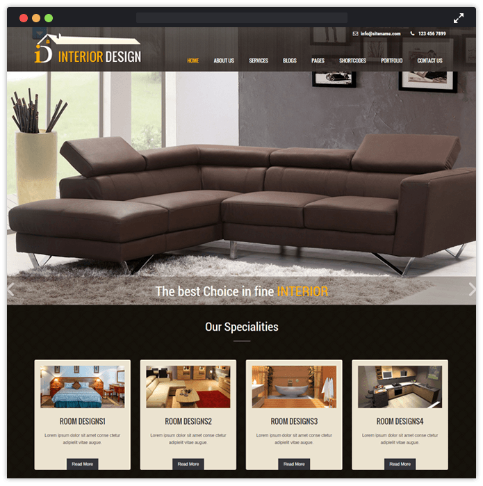 10 best interior designing remodeling wordpress themes for Interior design web app
