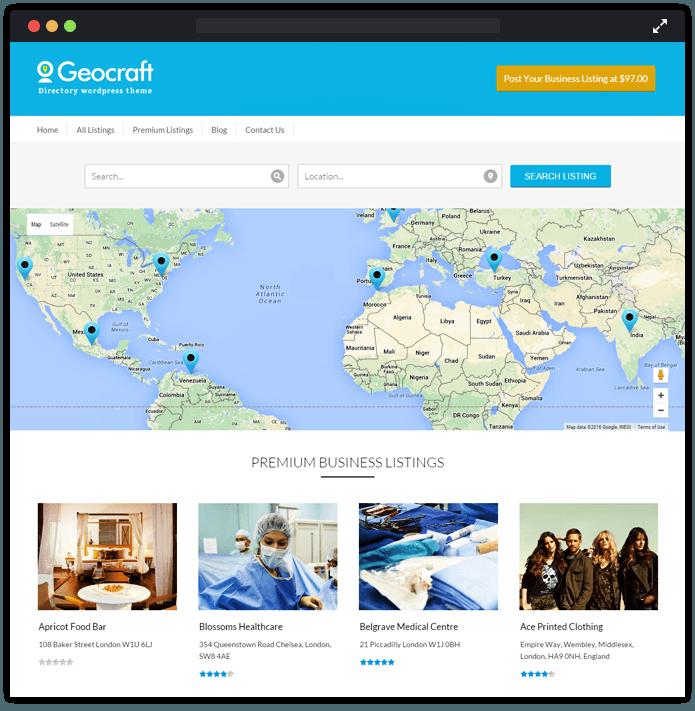 GeoCraft V2 WordPress Theme