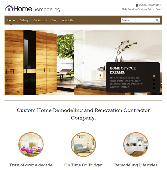 Home Remodeling Top House Cleaning and Housekeeping Service WordPress Theme