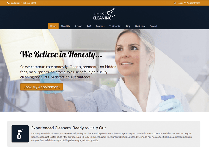 House Cleaning Top House Cleaning and Housekeeping Service WordPress Theme