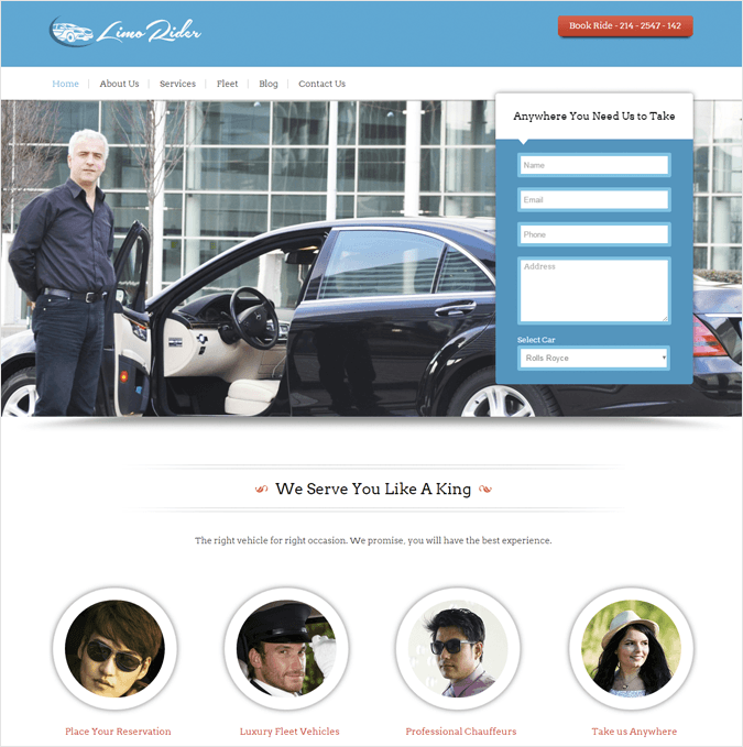 Limo Rider-local-business-wp-InkThemes