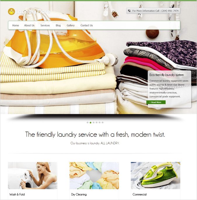 LoundryCare Top House Cleaning and Housekeeping Service WordPress Theme