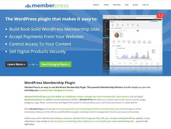 Memberpress - wordpress membership manager