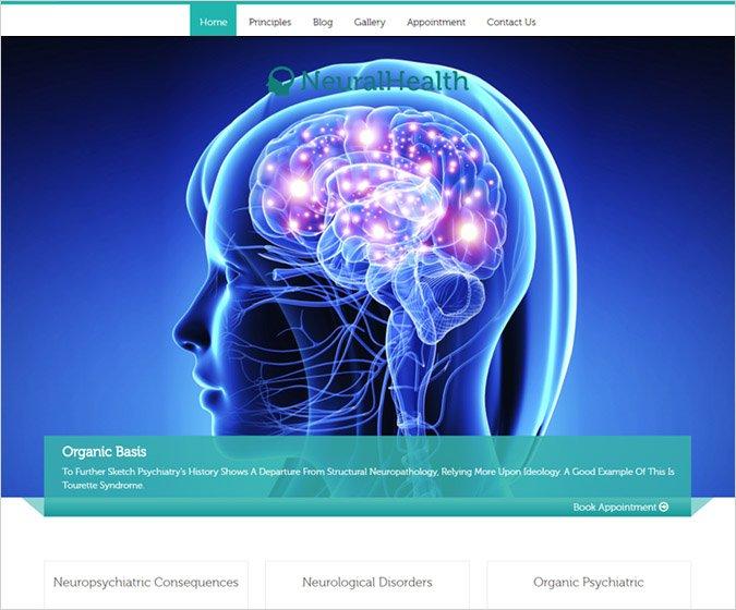 Neural Health WordPress Theme