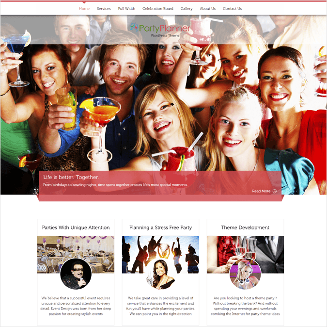 PartyPlanner-local-business-wp-InkThemes