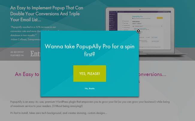 Popupally-pro - popup plugin