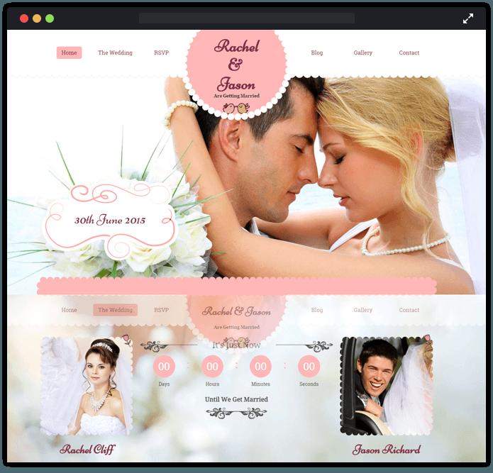 7 Most Fascinating Wedding WordPress Themes For Wedding