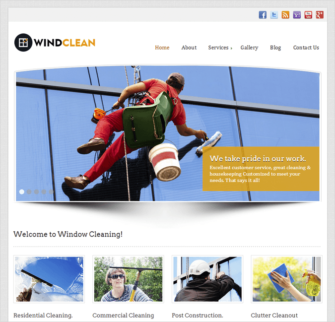 WindClean Top House Cleaning and Housekeeping Service WordPress Theme