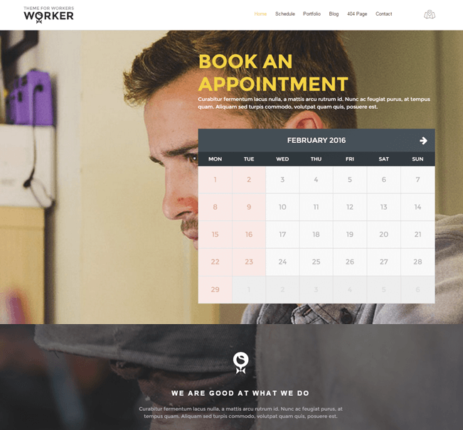 Worker Appointment Booking Wp Theme