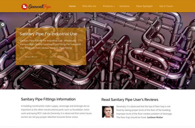geenwell pipe wp theme