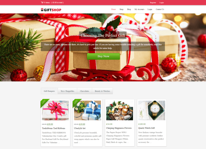 gift store wp theme