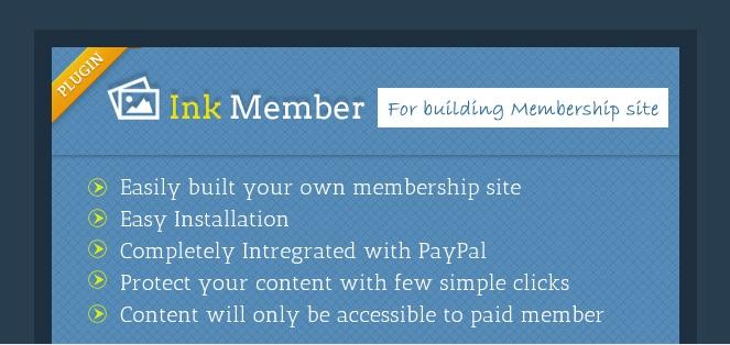 inkmember - wordpress membership manager