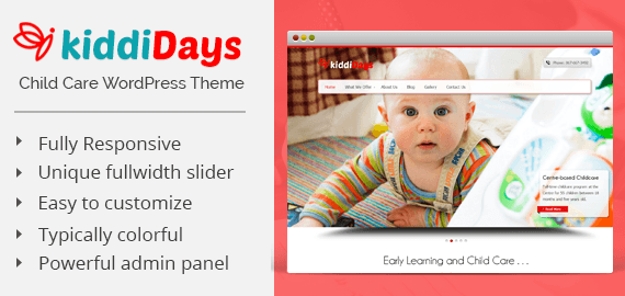 KiddiDays – Child Care WordPress Theme