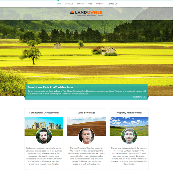 land broker wp theme