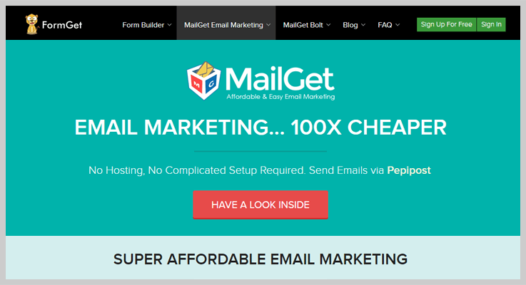 mailget newsletter plugin