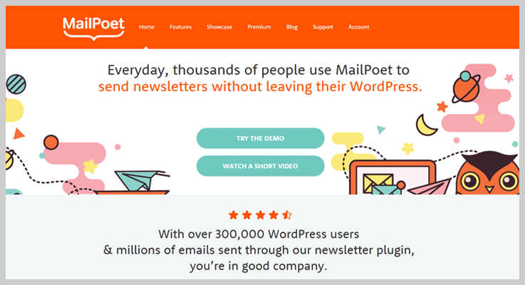 mailpoet newsletter wordpress plugin