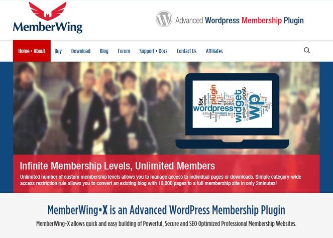 memberwing - wordpress membership manager