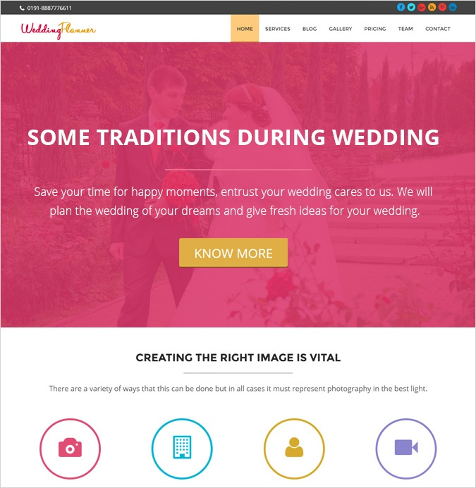 onepage theme-WEDDING