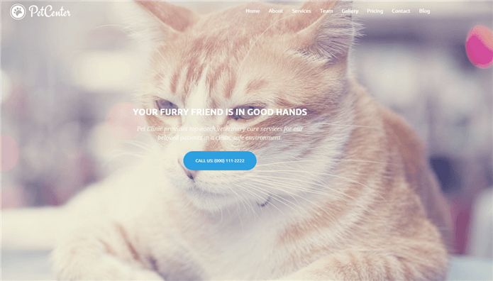 pet center wordpress theme