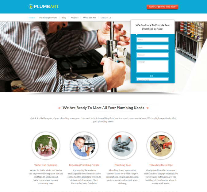 plumb art wp theme