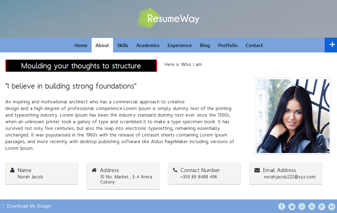 10 Best Resume, VCard, Portfolio WordPress Themes | InkThemes
