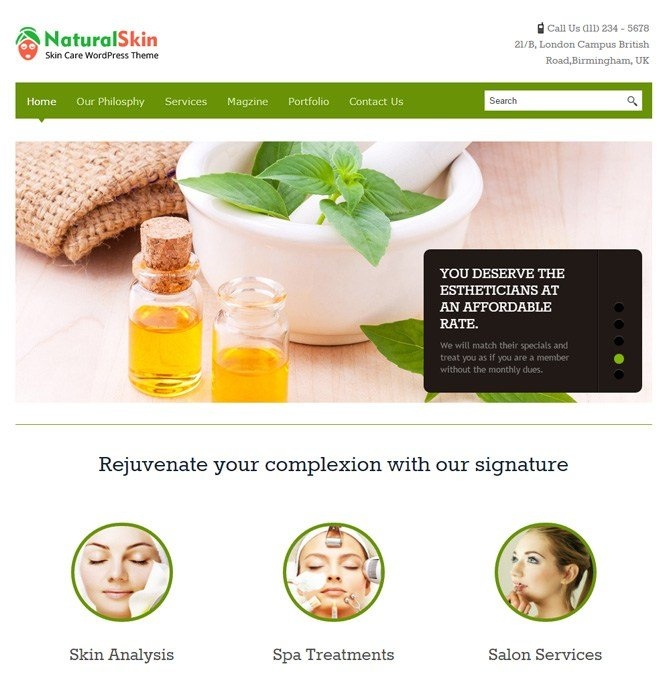 skin care template