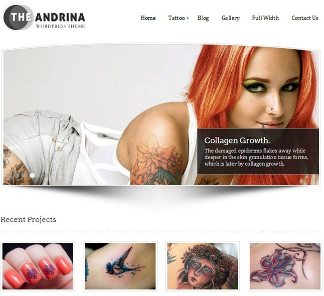 tattoo - body paint salon wordpress theme