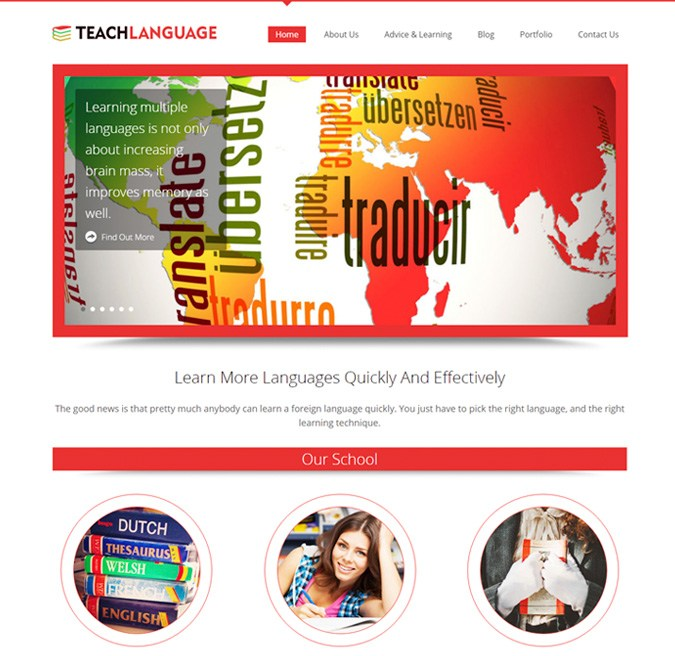 Teach Language WP Themes