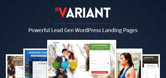 Variant Lead Gen Landing Page WordPress Theme