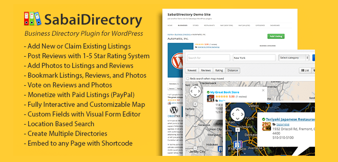 WordPress Sabai Directory Plugin