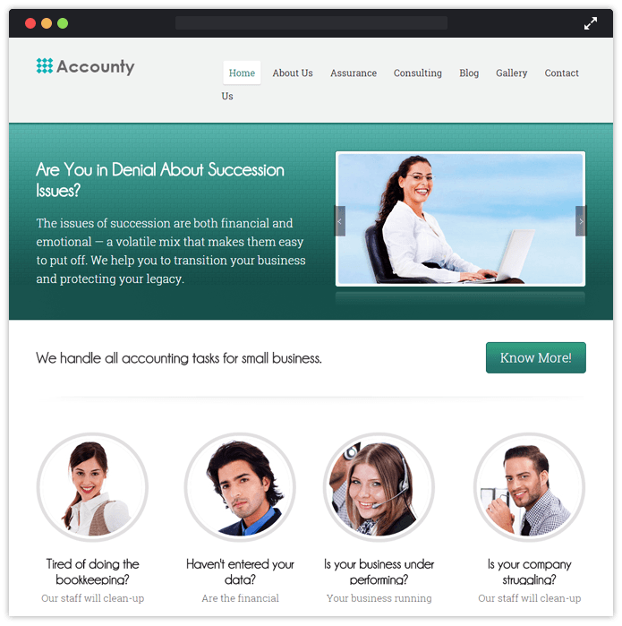 Accounty ?? Accounting WordPress Theme