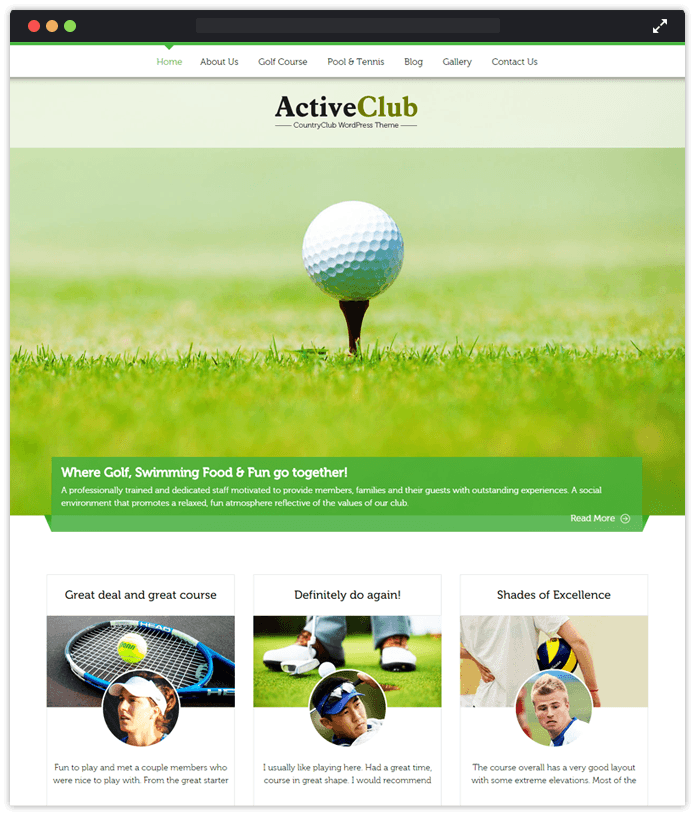 ActiveClub Sports WordPress Theme