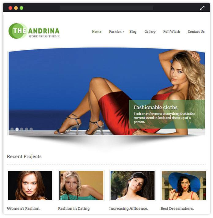 Andrina Best Fashion WordPress Themes