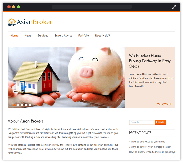 Asian Borker WordPress Theme