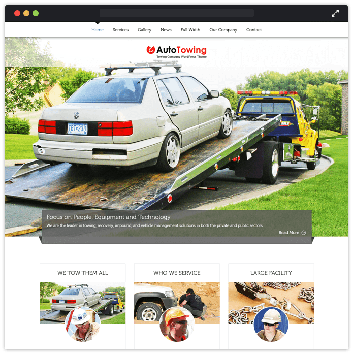 AutoTowing Best Car Automobile WordPress Theme