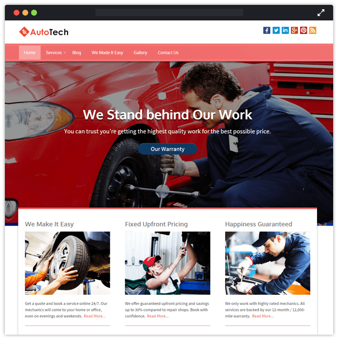 Autotech Best Car Automobile WordPress Theme