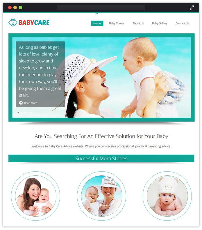 Babycare Best Preschool Child Care & kindergarten WordPres Theme