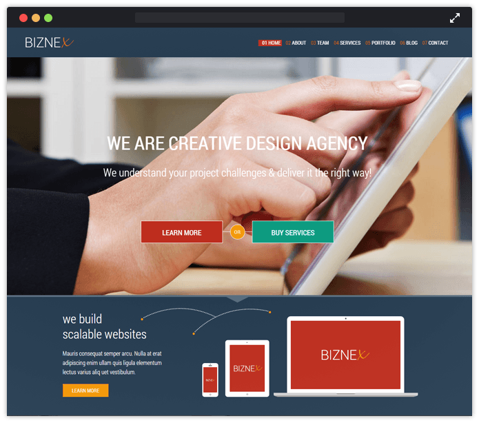 Biznex-wordpress-bootstrap-InkThemes