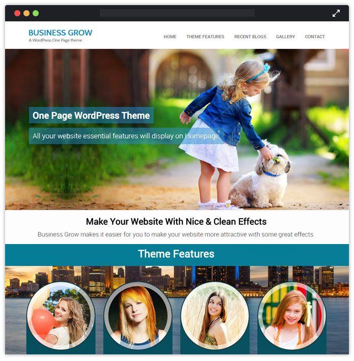 Business Grow Corporate WordPress Themes InkThemes