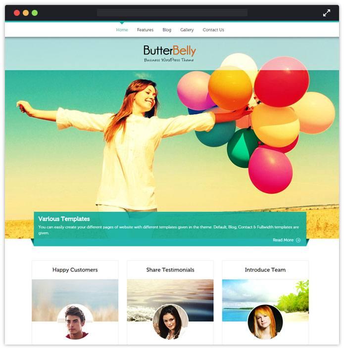 ButterBelly Corporate WordPress Themes InkThemes