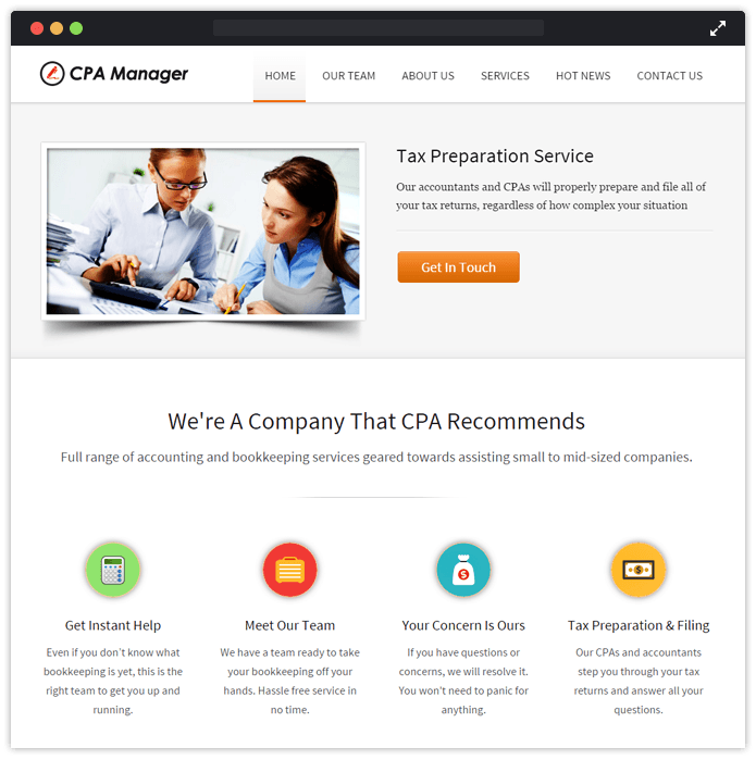 CPA Manager WordPress Theme