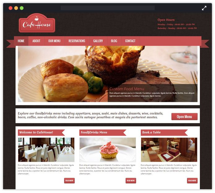 CafeHouse WordPress Theme