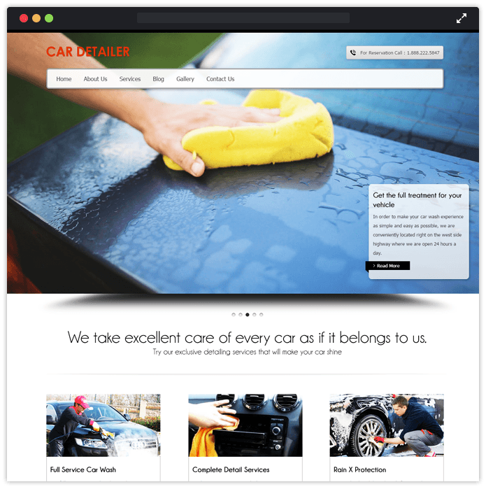CarDetailer Best Car Automobile WordPress Theme