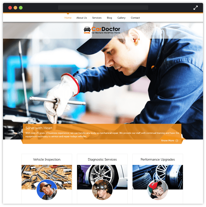 CarDoctor Best Car Automobile WordPress Theme