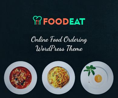 FoodEat - Commande De Nourriture En Ligne Et Restaurant WordPress Theme