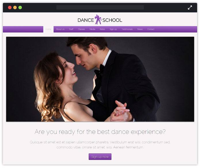 Dance School Top Academic WordPress Themes InkThemes
