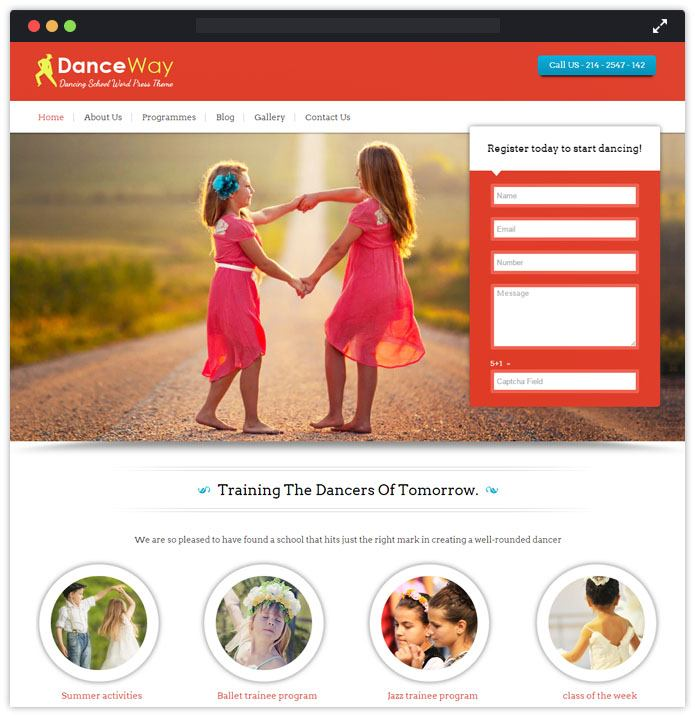 DanceWay Top Academic WordPress Themes InkThemes