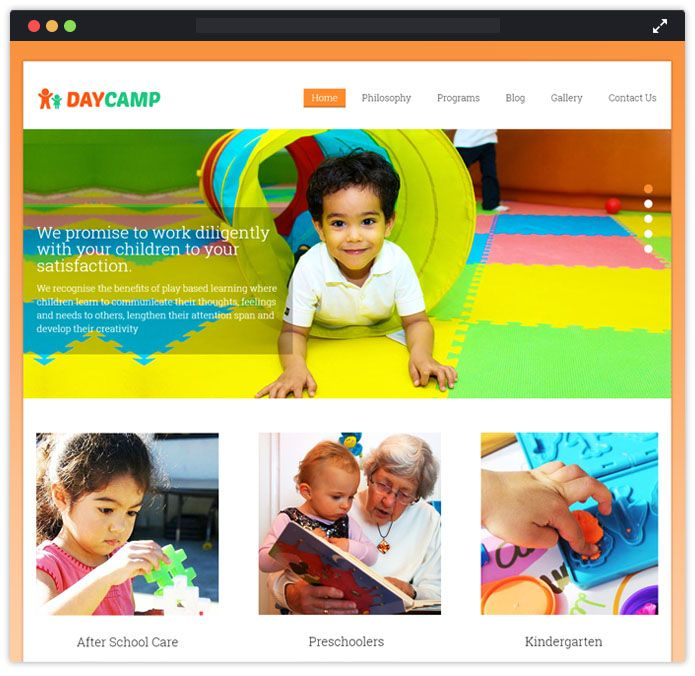 DayCamp Best Preschool Child Care & Kindergarten WordPress Themes