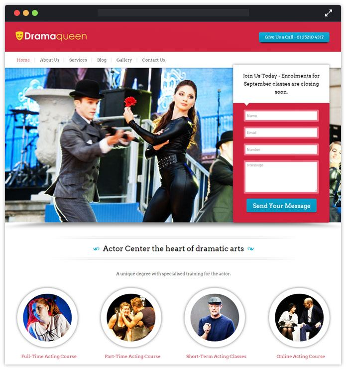 Dramaqueen Top Academic WordPress Themes InkThemes