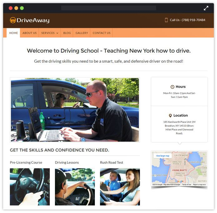 Drive A Way Academic WordPress Themes InkThemes
